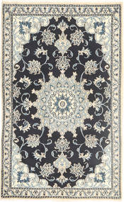 Nain Rug 88X147 Authentic  Oriental Handknotted Dark Grey/Beige/Light Grey (Wool, Persia/Iran)