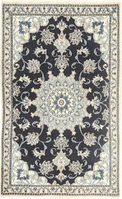 ナイン 絨毯 88X147 オリエンタル 手織り 濃いグレー/ベージュ/薄い灰色 (ウール, ペルシャ/イラン)