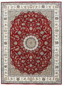 Nain Indo Rug 253X346 Authentic  Oriental Handknotted Light Grey/Dark Red Large ( India)