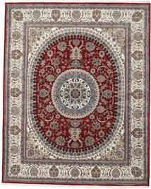 ナイン インド 絨毯 242X299 オリエンタル 手織り 薄茶色/濃いグレー ( インド)