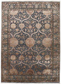 Keshan Indo Wool/Viscos Rug 248X342 Authentic  Oriental Handknotted Dark Grey/Light Grey (Wool/Silk, India)