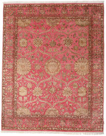 Keshan Indo Wool/Viscos Rug 236X300 Authentic  Oriental Handknotted Brown/Light Brown (Wool/Silk, India)