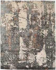 Viscose Modern Rug 243X304 Authentic  Modern Handknotted Light Grey/Dark Grey ( India)