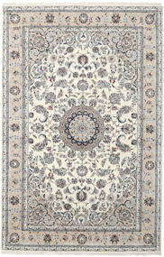 Nain Indo Alfombra 199X305 Oriental Hecha A Mano Gris Claro/Beige/Beige Oscuro ( India)