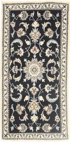 Nain Matta 70X142 Äkta Orientalisk Handknuten Mörkgrå/Beige (Ull, Persien/Iran)