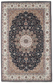 Nain Indo Rug 193X307 Authentic  Oriental Handknotted Light Grey/Dark Blue ( India)