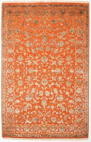 Keshan Indisk Uld/Viscos Tæppe 196X303 Ægte Orientalsk Håndknyttet Orange/Lysebrun (Uld/Silke, Indien)