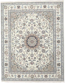 Nain Indo Rug 249X308 Authentic Oriental Handknotted Light Grey/Dark Beige ( India)