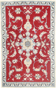 Nain Rug 89X139 Authentic  Oriental Handknotted Crimson Red/Beige (Wool, Persia/Iran)