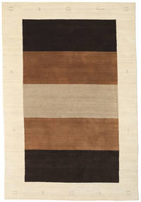 Gabbeh Indo Rug 195X290 Authentic Modern Handknotted Beige/Brown/Black (Wool, India)