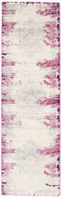 Alaska - Cream/Pink Rug 80X250 Modern Hallway Runner  White/Creme/Beige ( Turkey)