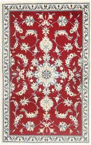 Nain Rug 88X141 Authentic  Oriental Handknotted Dark Red/Beige (Wool, Persia/Iran)