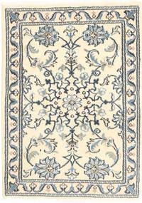 Nain Tappeto 60X90 Orientale Fatto A Mano Beige/Grigio Chiaro/Grigio Scuro (Lana, Persia/Iran)