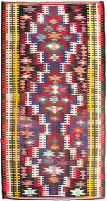 Kilim Rug 180X352 Authentic  Oriental Handwoven Hallway Runner  Crimson Red/Dark Brown (Wool, Persia/Iran)