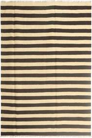 Kelim Teppe 168X250 Ekte Orientalsk Håndvevd Mørk Grå/Beige (Ull, Persia/Iran)