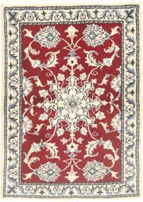 Nain Tappeto 60X90 Orientale Fatto A Mano Rosso/Grigio Chiaro (Lana, Persia/Iran)