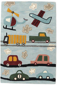 Cars Handtufted Rug 120X180 Modern Light Blue/Light Grey (Wool, India)