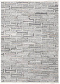 Path - Grey Rug 200X300 Authentic  Modern Handwoven Light Grey/Beige ( India)