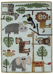 Zoo Handtufted Rug 170X240 Modern Light Grey/Turquoise Blue (Wool, India)