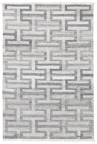 Path - Grey Rug 140X200 Authentic  Modern Handwoven Light Grey/Light Purple ( India)