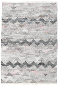 Wavy Rug 140X200 Authentic  Modern Handwoven Light Grey/Beige ( India)
