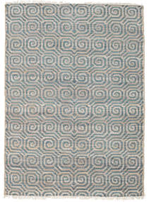 Thar Jute Rug 140X200 Authentic  Modern Handwoven Light Grey/Dark Grey ( India)