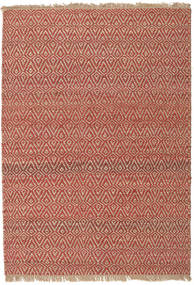 Jaque Jute Rug 140X200 Authentic  Modern Handwoven Brown/Light Brown/Dark Red ( India)