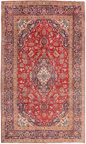 カシャン 絨毯 198X323 オリエンタル 手織り 深紅色の/薄茶色 (ウール, ペルシャ/イラン)