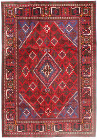 Joshaghan Rug 196X290 Authentic  Oriental Handknotted Crimson Red/Dark Brown (Wool, Persia/Iran)