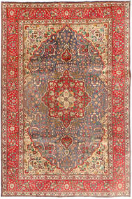 Täbriz Teppich 204X310 Echter Orientalischer Handgeknüpfter Dunkelrot/Hellbraun (Wolle, Persien/Iran)