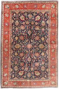 Tabriz Tapijt 200X294 Echt Oosters Handgeknoopt Lichtbruin/Donkerpaars (Wol, Perzië/Iran)