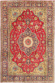 Tabriz Rug 200X302 Authentic  Oriental Handknotted Dark Red/Rust Red (Wool, Persia/Iran)