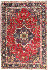 Tabriz Rug 202X301 Authentic  Oriental Handknotted Dark Red/Dark Grey (Wool, Persia/Iran)