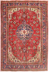 Tabriz Rug 196X288 Authentic  Oriental Handknotted Dark Red/Rust Red (Wool, Persia/Iran)