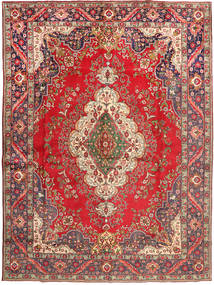 Tabriz Rug 290X395 Authentic  Oriental Handknotted Dark Red/Dark Grey Large (Wool, Persia/Iran)