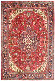 タブリーズ 絨毯 205X300 オリエンタル 手織り 錆色/ピンク (ウール, ペルシャ/イラン)