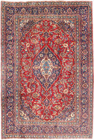 Mashad Tapijt 195X285 Echt Oosters Handgeknoopt Donkerpaars/Donkergrijs (Wol, Perzië/Iran)