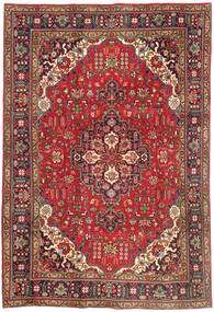 Tabriz Rug 202X298 Authentic  Oriental Handknotted Dark Red/Dark Brown (Wool, Persia/Iran)