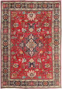 Tabriz Rug 200X292 Authentic  Oriental Handknotted Dark Red/Dark Brown (Wool, Persia/Iran)