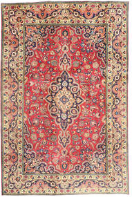 Tabriz Rug 194X290 Authentic  Oriental Handknotted Pink/Light Brown (Wool, Persia/Iran)