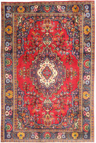 Tabriz Rug 200X294 Authentic  Oriental Handknotted Dark Red/Pink (Wool, Persia/Iran)