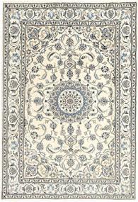 Nain Teppe 194X292 Ekte Orientalsk Håndknyttet Beige/Lys Grå (Ull, Persia/Iran)