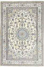Nain Covor 195X300 Orientale Lucrat Manual Bej/Gri Deschis (Lână, Persia/Iran)
