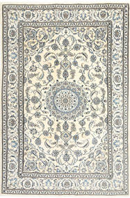 Nain Matta 195X300 Äkta Orientalisk Handknuten Beige/Ljusgrå (Ull, Persien/Iran)