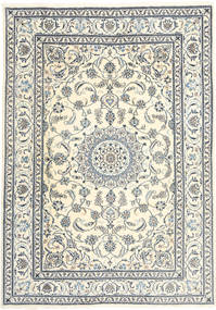 Nain Rug 199X285 Authentic  Oriental Handknotted Beige/Light Grey (Wool, Persia/Iran)