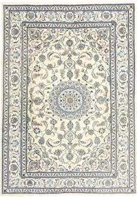 ナイン 絨毯 199X285 オリエンタル 手織り ベージュ/薄い灰色 (ウール, ペルシャ/イラン)
