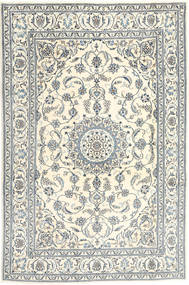 Nain Rug 190X292 Authentic  Oriental Handknotted Beige/Light Grey (Wool, Persia/Iran)