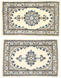 Nain Tappeto 40X63 Orientale Fatto A Mano Beige/Grigio Scuro (Lana, Persia/Iran)
