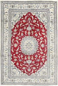 Nain Rug 199X297 Authentic  Oriental Handknotted Light Grey/Beige (Wool, Persia/Iran)