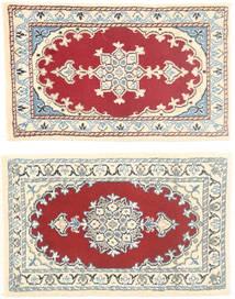 Nain Tappeto 40X62 Orientale Fatto A Mano Grigio Chiaro/Rosa Chiaro (Lana, Persia/Iran)